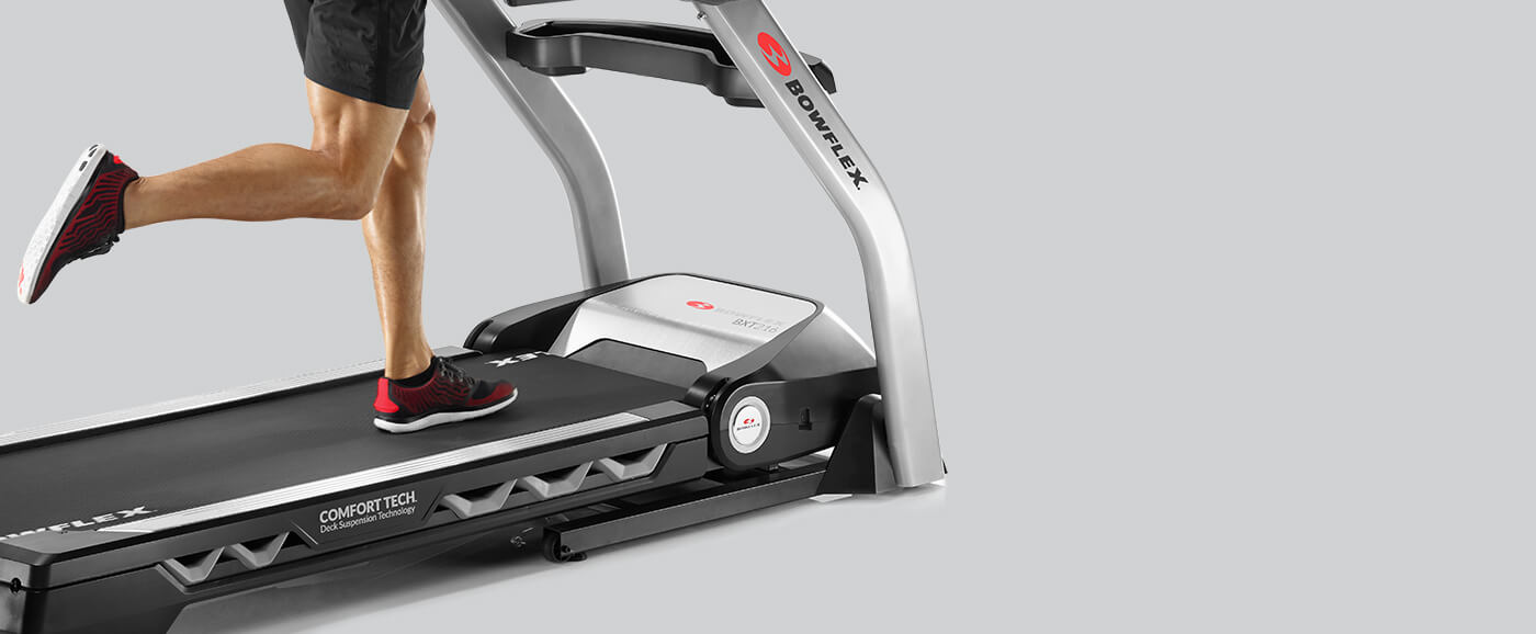 Cushioned deck of the BXT216 Treadmill