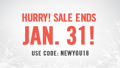New Year Sale. Use code NEWYOU18