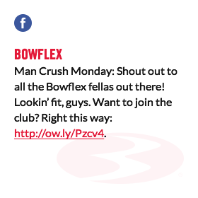 Bowflex Man Crush Monday: Shout out to all the Bowflex fellas out there! Lookin' fit, guys. Want to join the club? Right this way