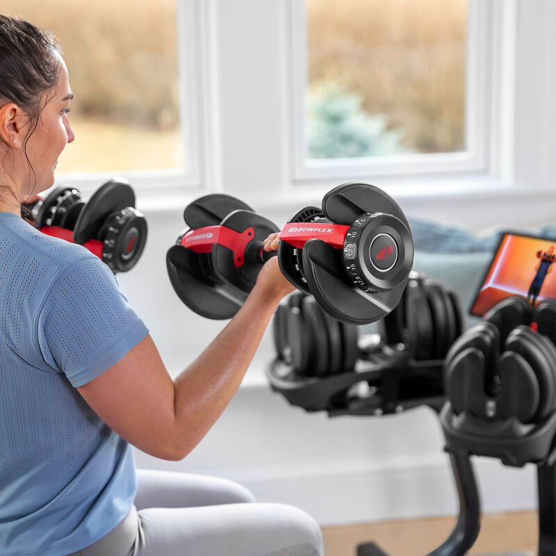 Biceps curl with SelectTech 552 Dumbbells - expanded view