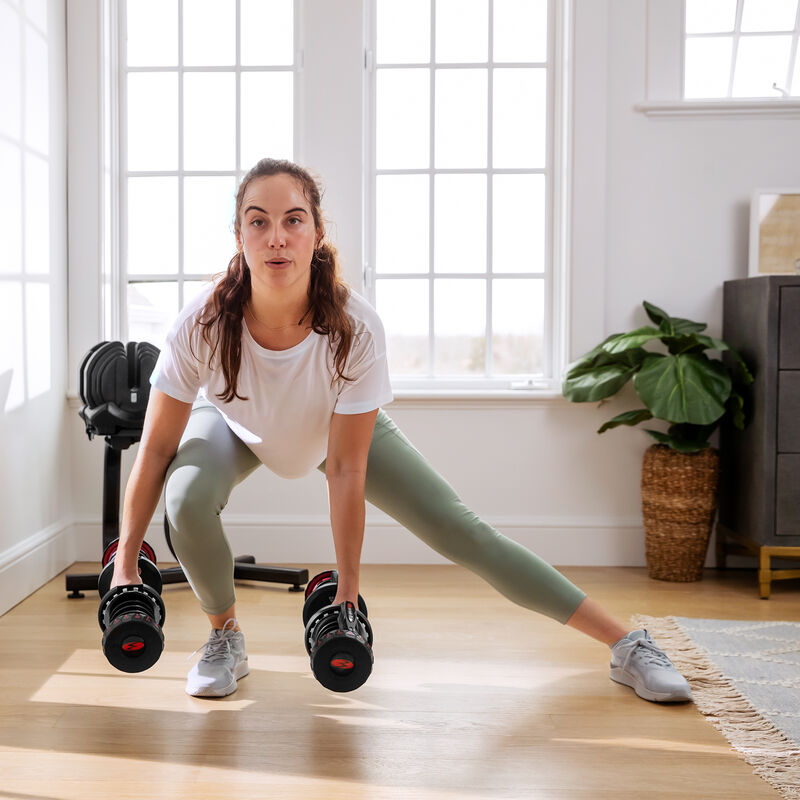 Side lunges with 1090 Dumbbells - expanded view