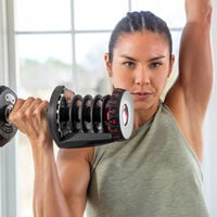 Dumbbell presses with SelectTech 1090--thumbnail