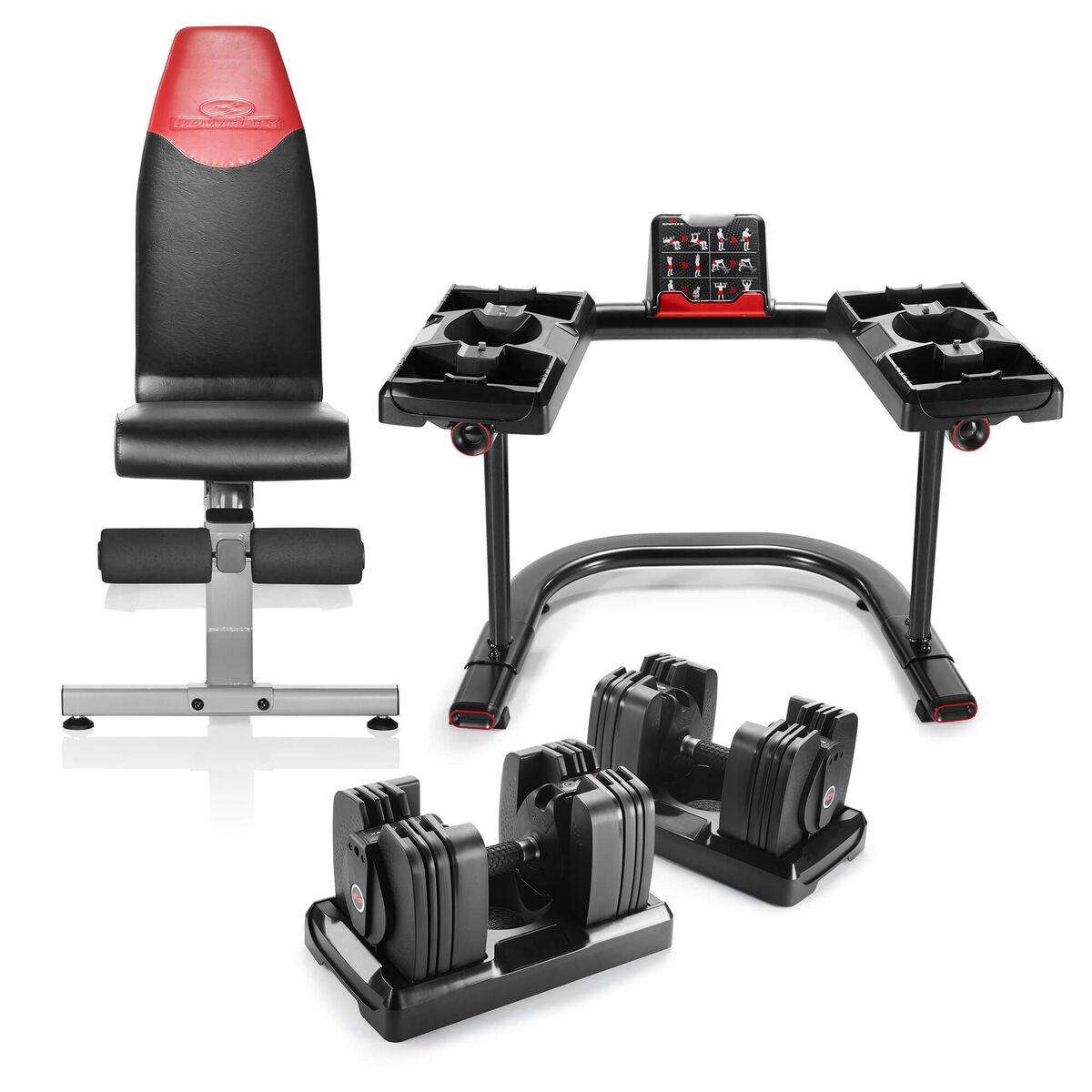 Bowflex Adjustable Dumbbells Exercises: Bowflex SelectTech 560, Bench, And Stand Bundle
