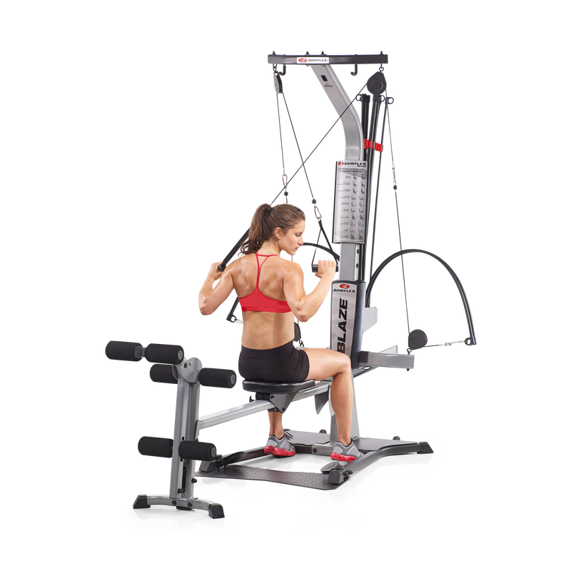 Crossover Pulldown Exercise with Bowflex Blaze Home Gym - expanded view