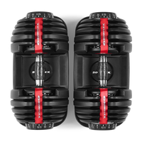 View from above of SelectTech 552 Dumbbells--thumbnail