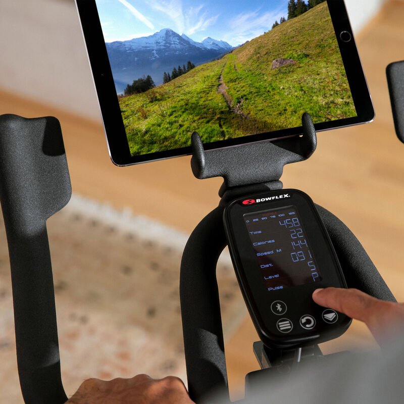 Bowflex C6 Bike Console - mobile expanded view