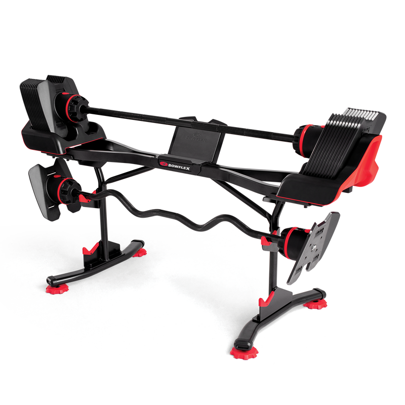 Bowflex SelectTech 2080 Barbell with Curlbar Stand - expanded view
