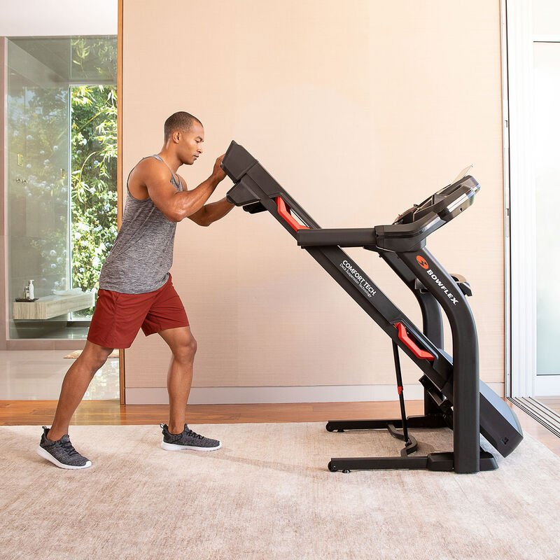 BXT6 Treadmill Folds for Convenience  - expanded view