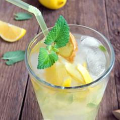 Glass of Mint Lemonade