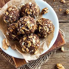 Close up image of No-Bake Gingerbread Energy Balls