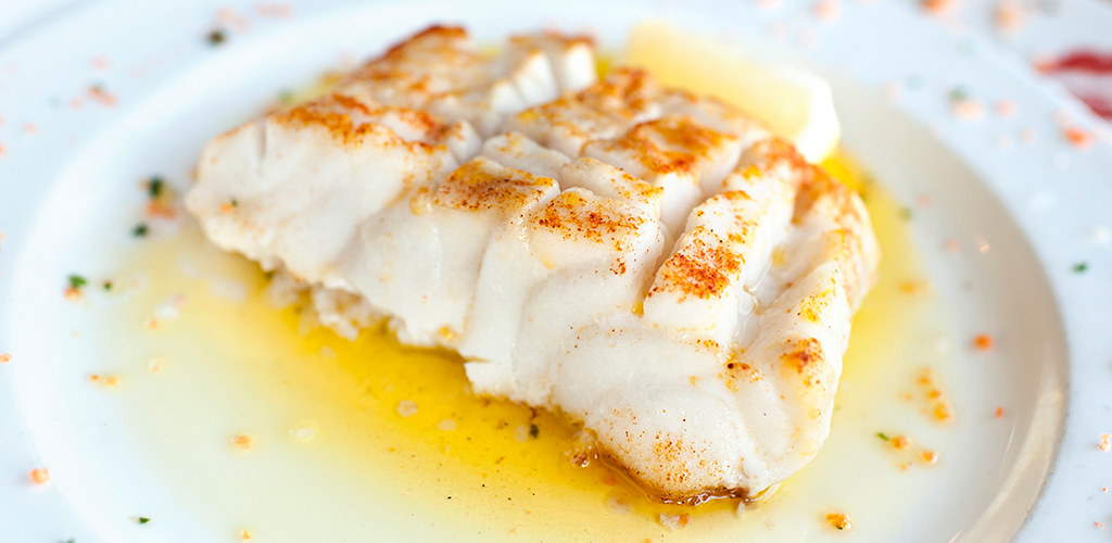 cod topped with herbs
