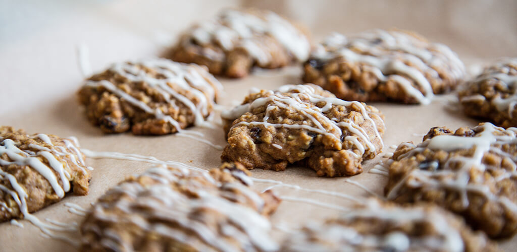 oatmeal raisin cookies on a counter