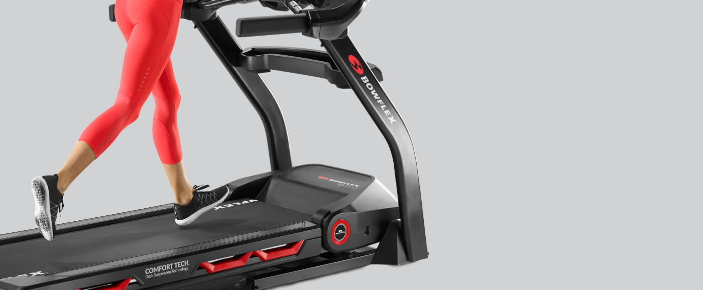 Cushioned deck of the BXT116 Treadmill