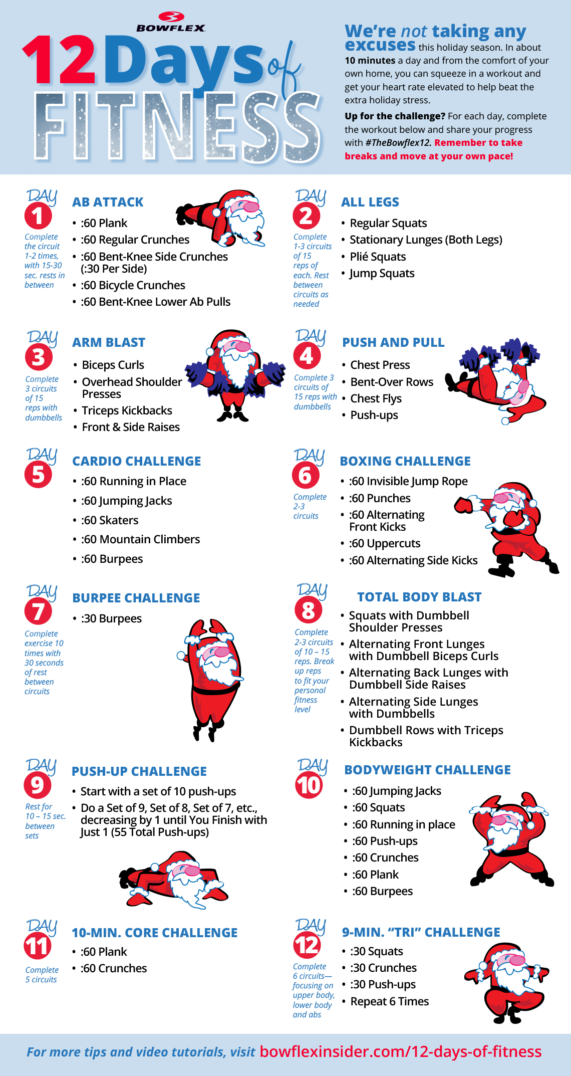 12 Days of Fitness Chart