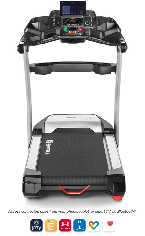 Bowflex BXT216 Treadmill - Access popular connected apps from your phone, tablet, or smart TV via Bluetooth