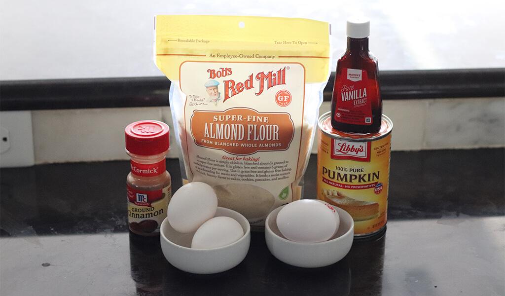 ingredients for almond flour pumpkin pancakes