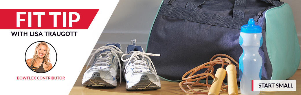 Workout accessories next to a gym bag.