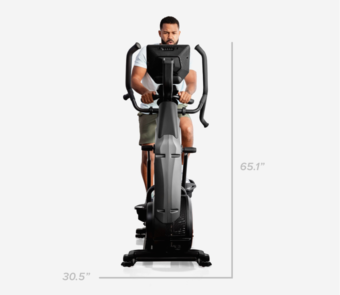 Max Trainer M9 dimensions - 30.5 inches wide by 65.1 inches high