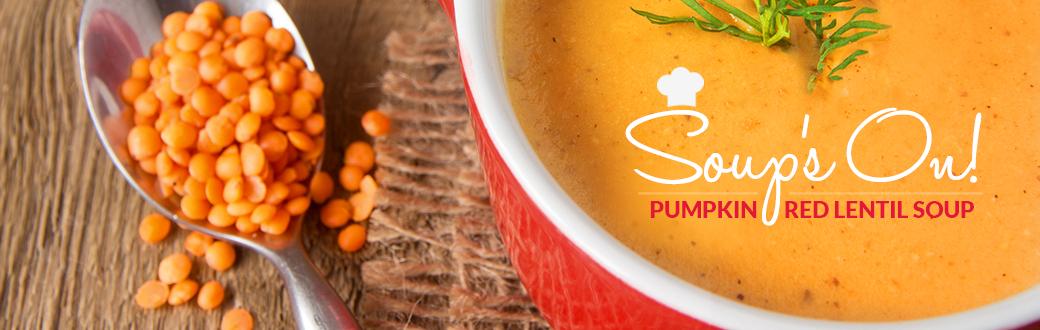Soup's On Pumpkin Red Lentil Soup