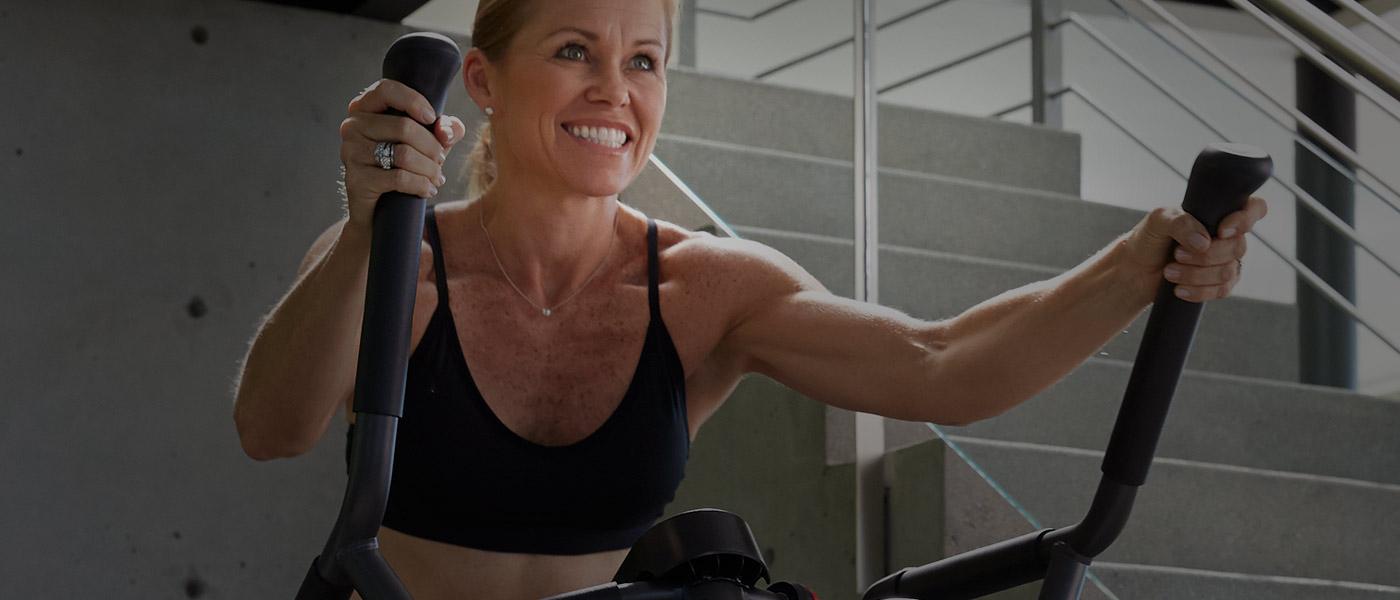 Jill on a Max Trainer
