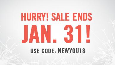 New Year Sale. Use code NEWYOU18