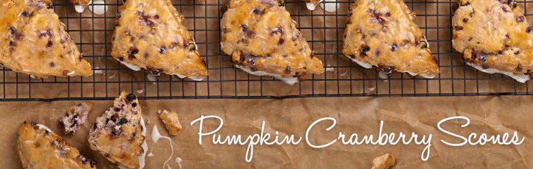 Winter Recipe: Pumpkin Cranberry Scones