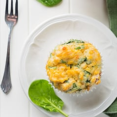 Breakfast Muffin on a plate.