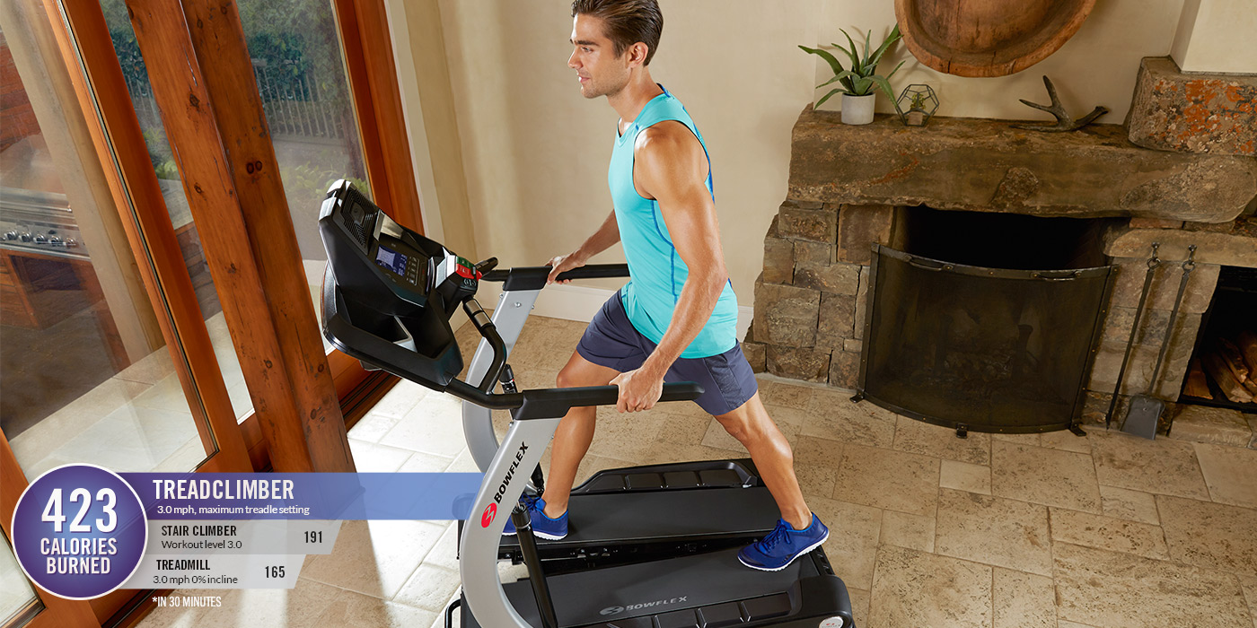 Burn 2.5X calories with TreadClimber