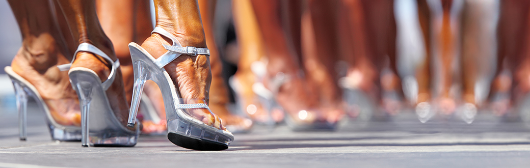 Feel in high heels during a competition