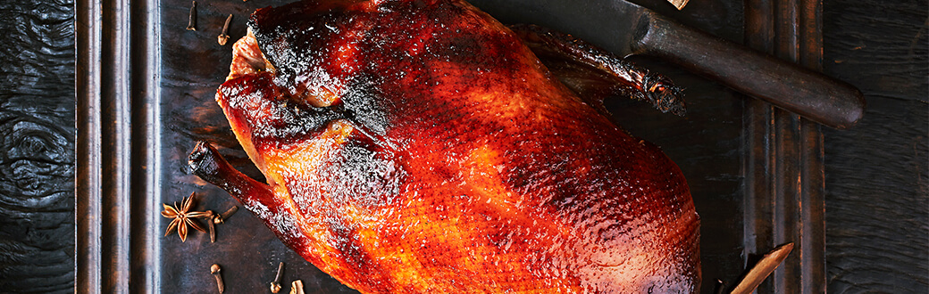 A roasted duck.