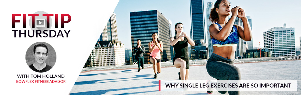 Four fit women doing lunges on top of a building. Single Leg Exercises. Why they are so Important