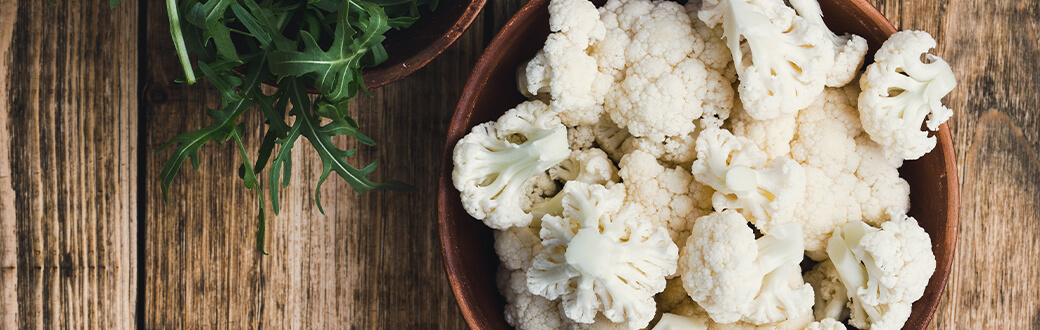 A bowl of cauliflower florets.