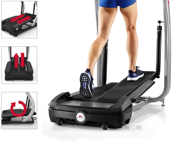 TC200 has the motions of a treadmill, stepper, and elliptical.