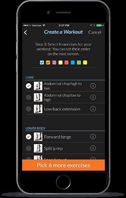 HVT App - Custom Workout