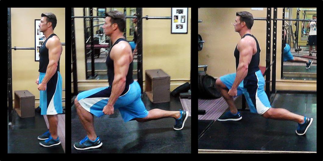 example of walking lunge