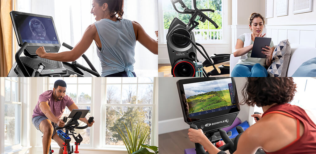 People using Bowflex cardio products.