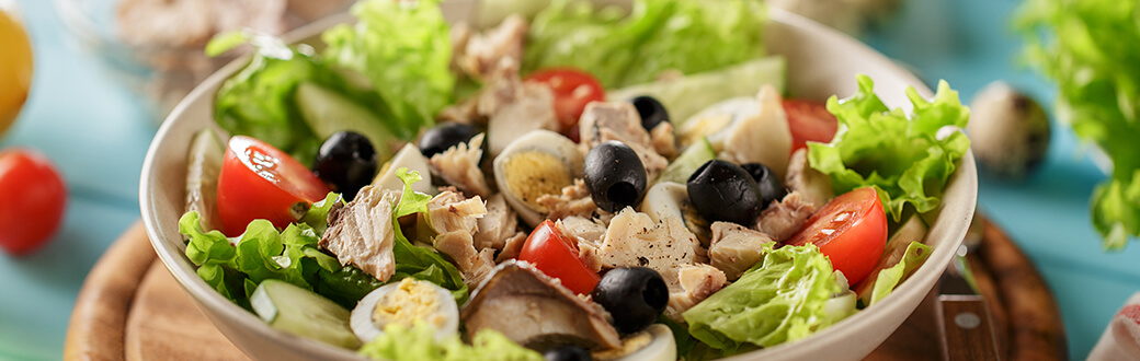 A bowl of no-cook salad.