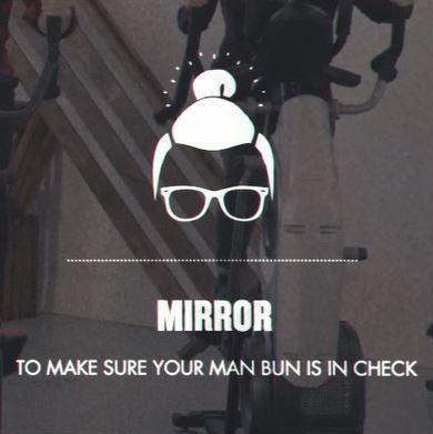 Man Bun Mirror