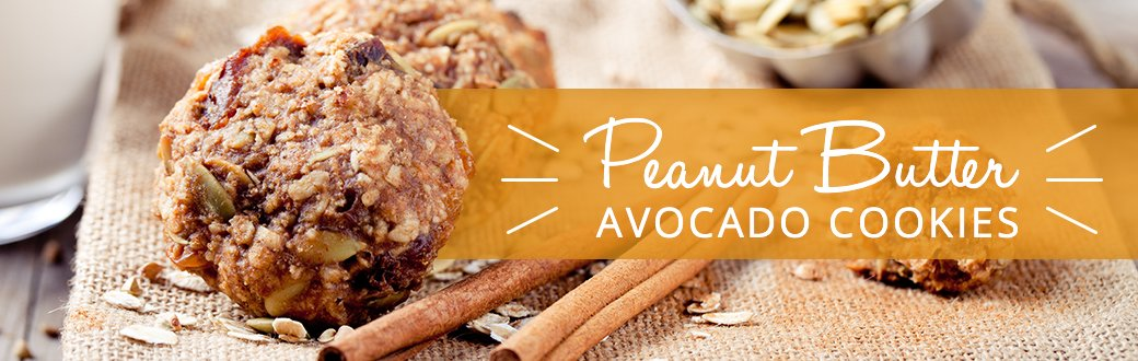 Peanut Butter Avocado Cookies