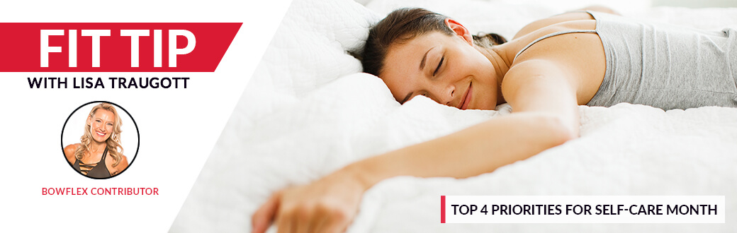 A woman laying on a bed. Top 4 Priorities For Self-Care Month