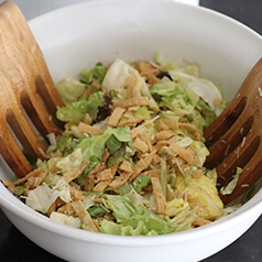 close up image of caesar salad