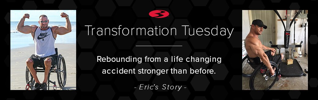 Transformation Tuesday. Rebounding from a life changing accident stranger than before. Eric's story.