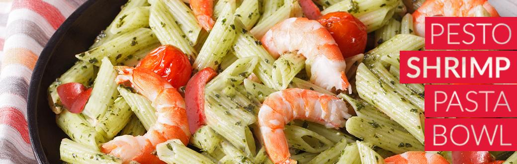 Pesto Shrimp Pasta Bowl