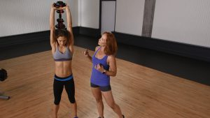 Overhead triceps extensions for beginners