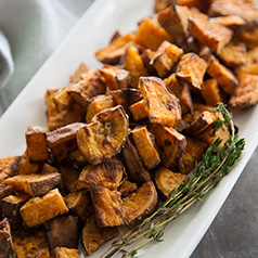 Roasted sweet potatoes with thyme
