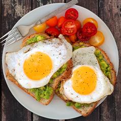 Avacado, tomato, and egg toast