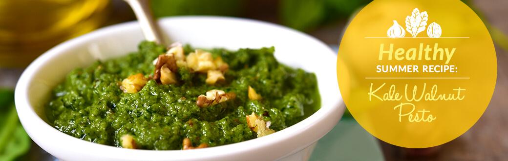 Kale Walnut Pesto Recipe Image