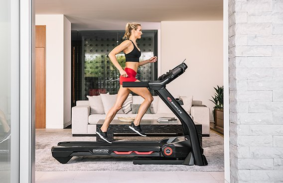 Bowflex machine in a home
