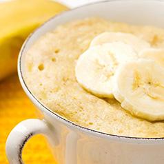 Close up of Coconut Banana Quinoa Breakfast Mug