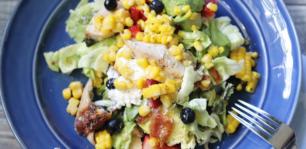 Summer Abundance Salad in a serving bowl.